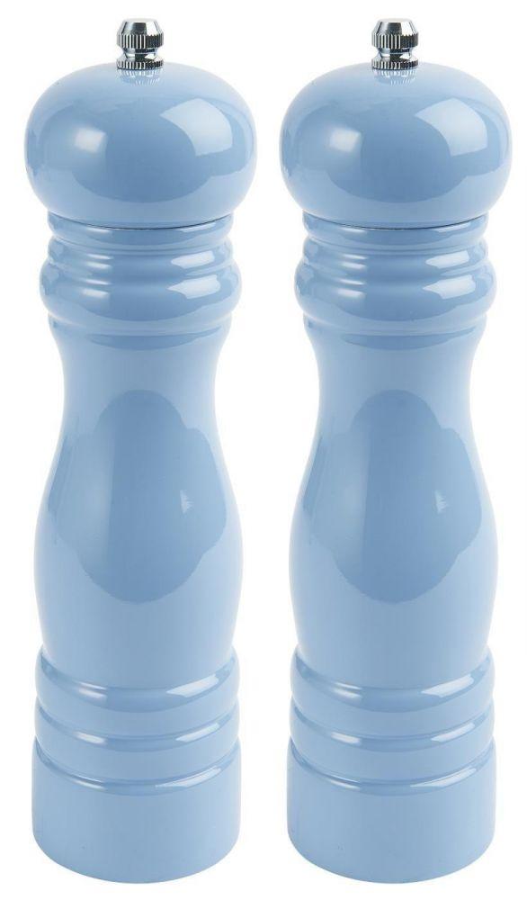 Dřevěný mlýnek na sůl a pepř modrý
