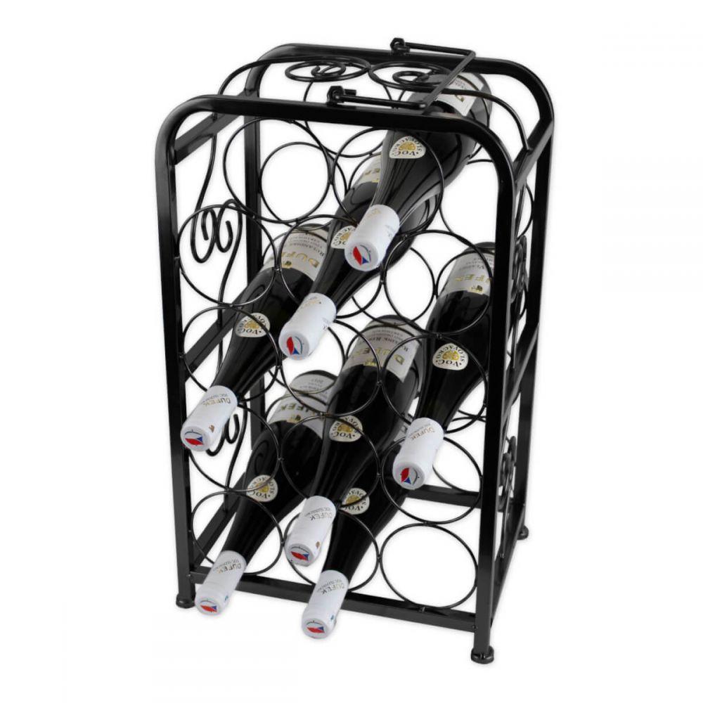 Kovový stojan na víno - 14 lahví Hran