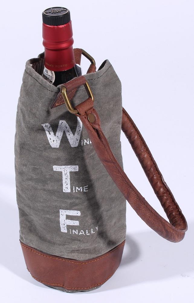 Taška na víno Wine bag Wine Time Finally - Konečně čas na víno