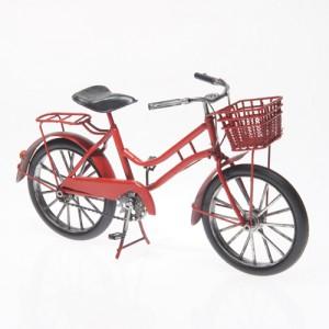 Plechový retro model Jízdní kolo s košíkem