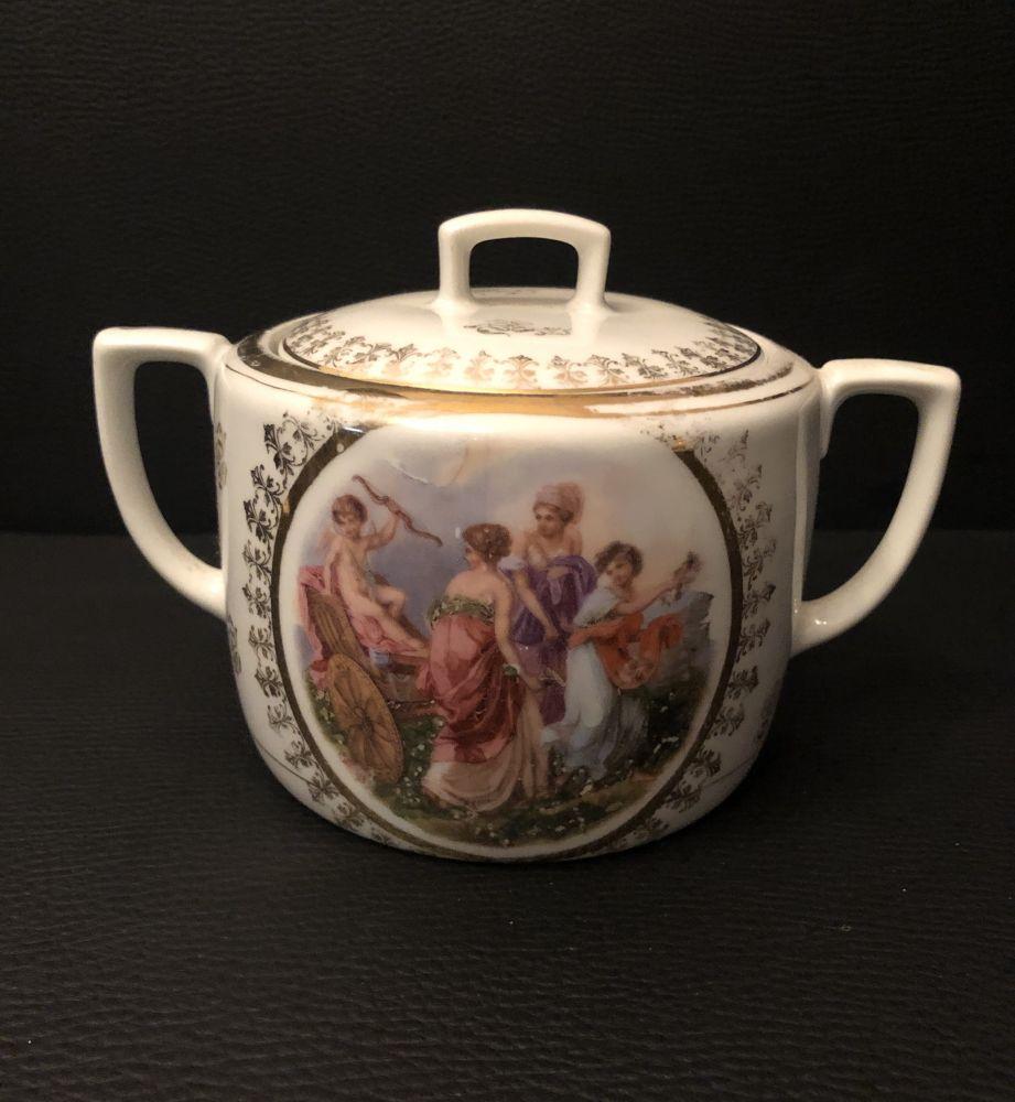 Starožitná porcelánová cukřenka Tři Grácie prodáno
