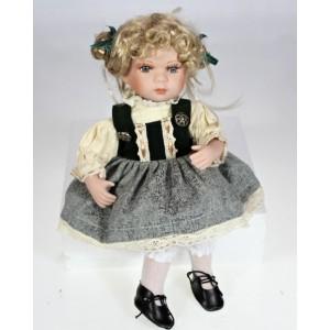 Porcelánová panenka Blondýnka sedící new