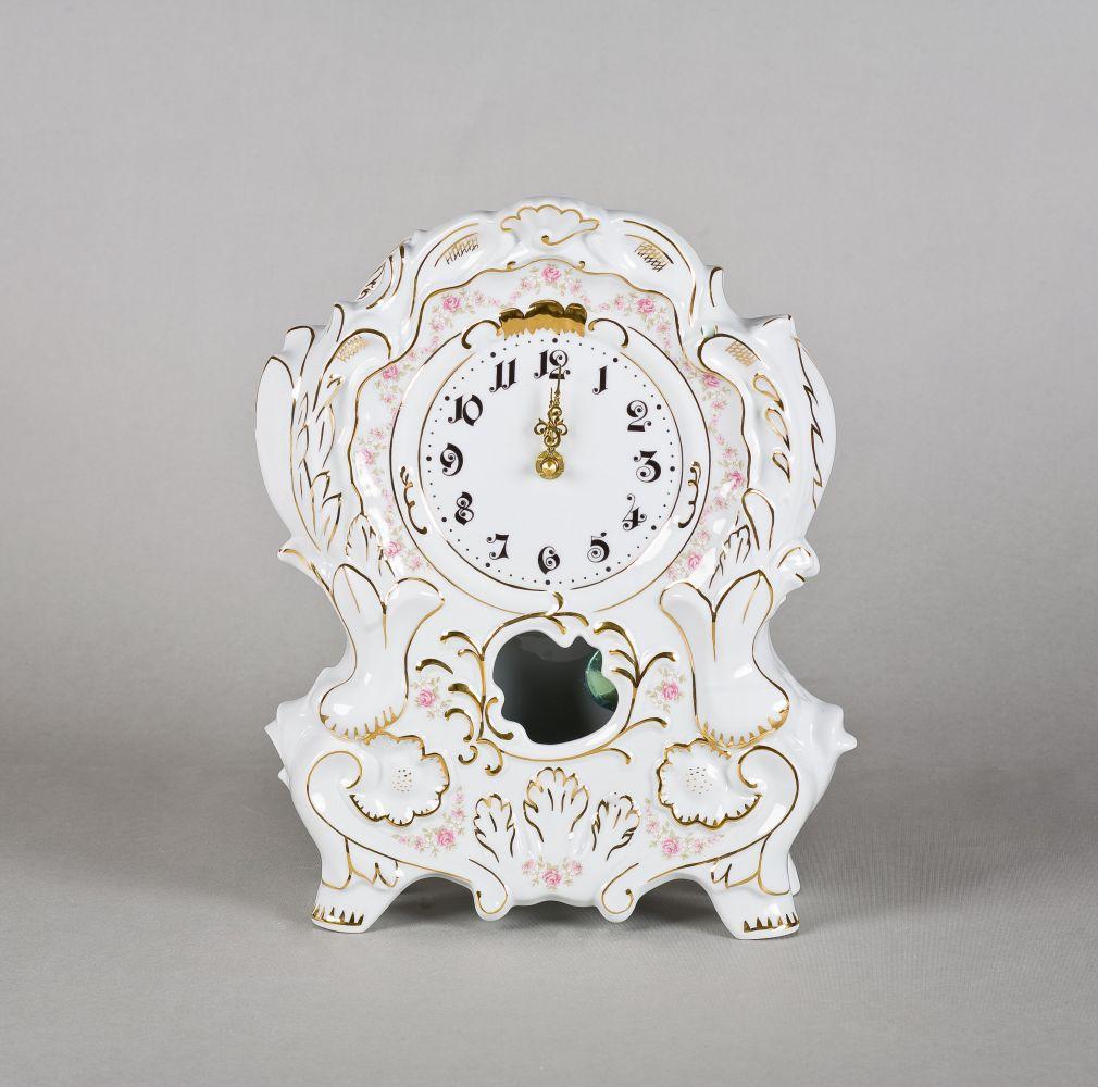 Krbové porcelánové hodiny - Leander Loučky