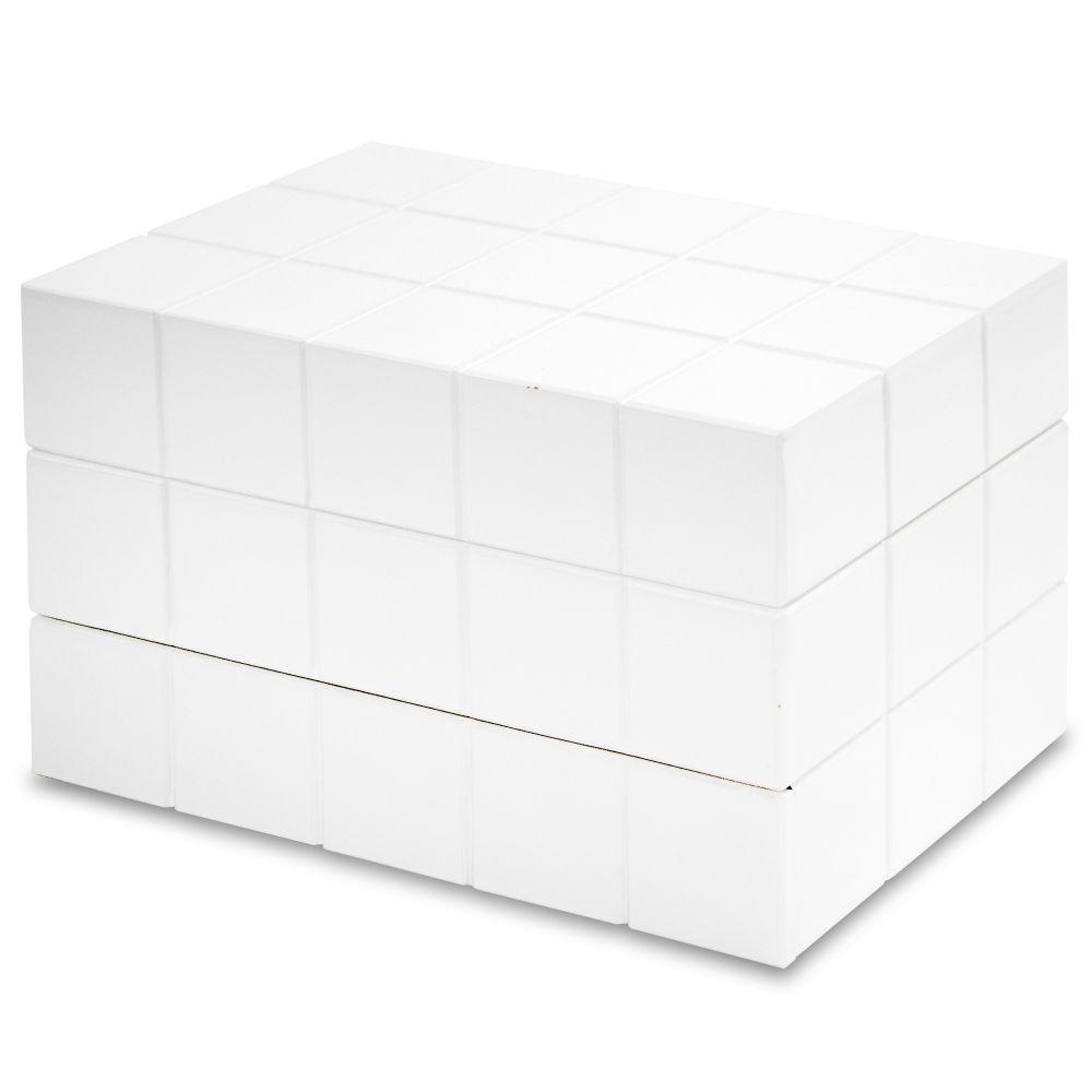 Dřevěná šperkovnice Cube Gama bílá velká