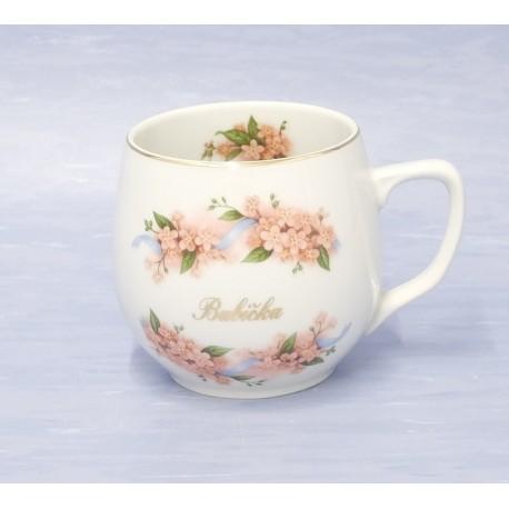 Porcelánový hrnek baňák Babička - český porcelán DUBÍ