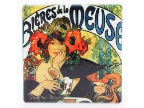 Plechová retro dóza - plechovka Meuse Alfons Mucha