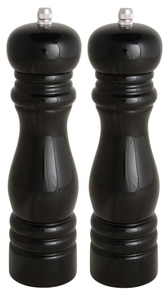 Dřevěný mlýnek na sůl a pepř černý
