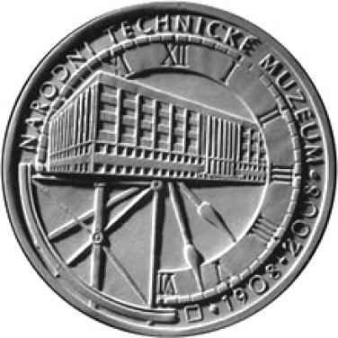 Stříbrná mince 100. výročí založení Národního technického muzea proof