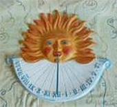 Keramické sluneční hodiny barevné L