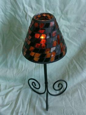 Mozaiková lampička svícen poškozeno