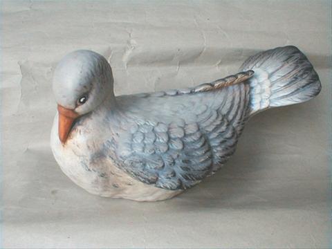 Keramický pták - Hrdlička color
