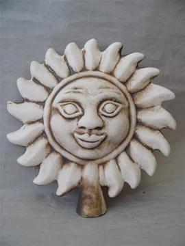 Keramická plotovka Sluníčko natural