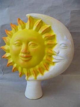 Keramická plotovka Slunceměsíc