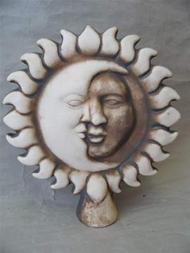 Keramická plotovka Slunceměsíc natural