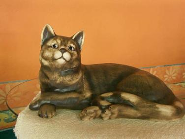 Keramická soška - Kočka domácí