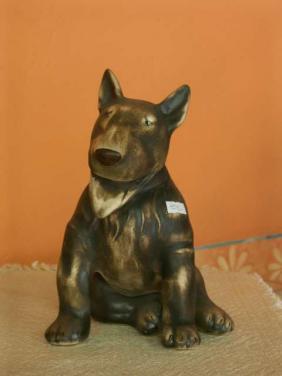 Keramický pes Bullteriér