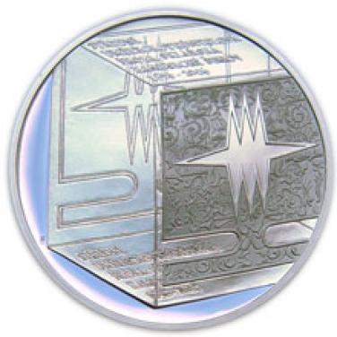 Stříbrná mince - Střední uměleckoprůmyslová škola sklářská v Kamenickém Šenově proof