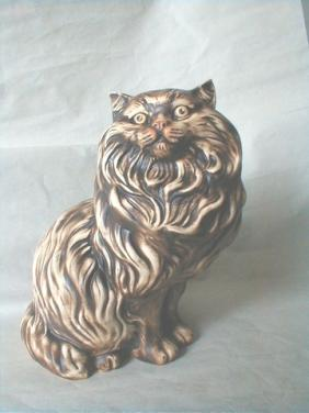 Keramická Perská kočka sedící