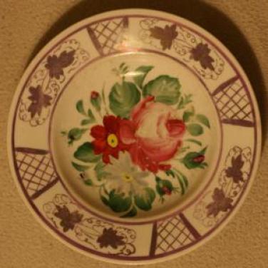 Ručně malovaný keramický talíř prodáno