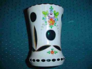 Skleněná váza - projímané sklo