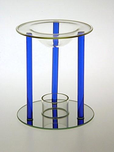 Skleněná aromalampa Blue
