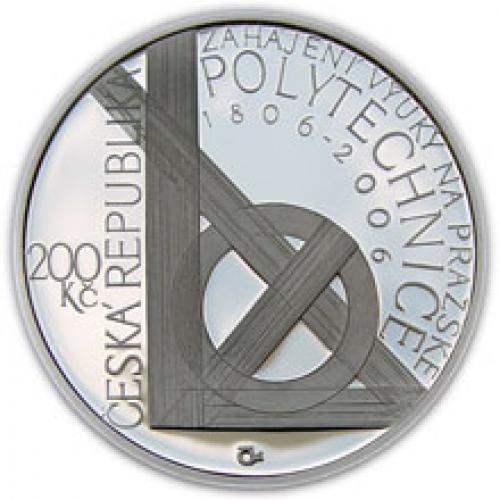 Stříbrná mince -2006 - 200 Kč - 250.výročí narození F.J. Gerstnera b.k.