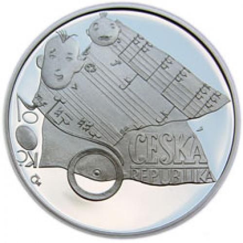 2005 - 200 Kč mince 100. výročí narození Jaroslava Ježka b.k.