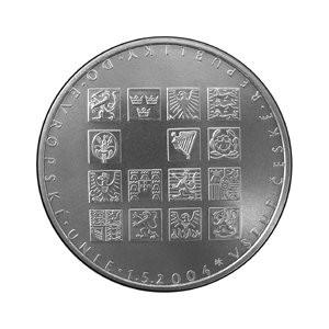 2004 - mince 200 Kč Vstup ČR do EU proof
