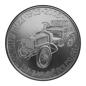2005 mince 200 Kč - 100 výročí prvního automobilu v Mladé Boleslavy proof