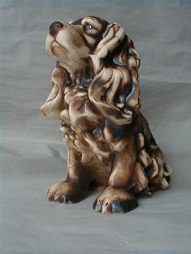 Keramický pes Kokršpaněl