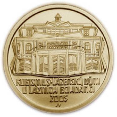 Zlatá mince Kubismus Lázeňský dům v Bohdanči b.k.