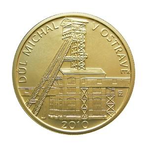 Zlatá mince Důl Michal proof