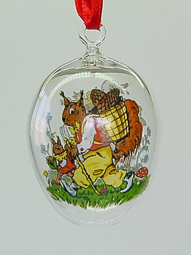 Velikonoční vajíčko Kačenka skleněné