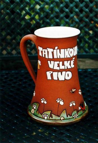 Keramický korbel Tatínkovo velké pivo M