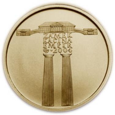 Zlatá mince Empír zámek Kačina proof