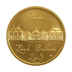 Zlatá mince Baroko zámek Buchlovice proof