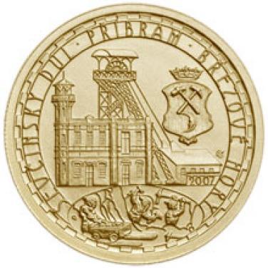 Zlatá mince Ševčínský důl Příbram proof
