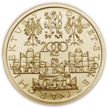 Zlatá mince Pozdní renesance Štíty domů ve Slavonicích - Slavonice proof
