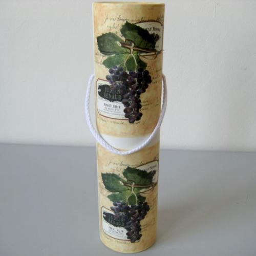 Tuba na víno s motivem červeného vína