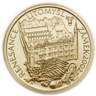 Zlatá mince Renesance Zámek Litomyšl proof