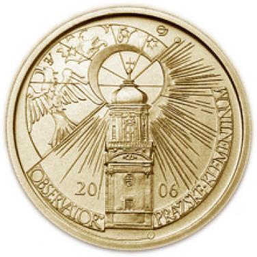 Zlatá mince Klementinum v Praze proof