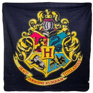 Deka fleece Harry Potter Hogwarts barevná
